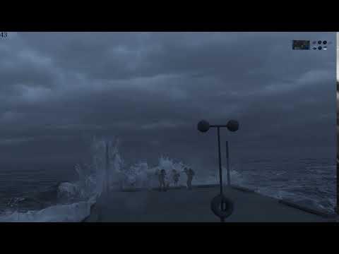 飛沫や泡の調整後の海面/LiNDA HoudiniBros.