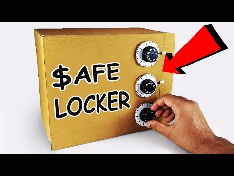 How to Make SAFE Locker from Cardboard DIY at Home with 3 Lock System