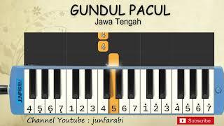 not pianika gundul gundul pacul - lagu daerah / nusantara / tradisional indonesia - not angka