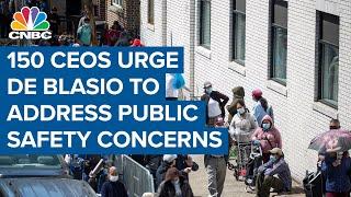 More than 150 CEOs urge N.Y.C. Mayor de Blasio to address concerns over public safety