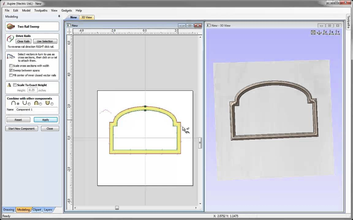 Vectric tips tricks modeling a frame part 2 youtube vectric tips tricks modeling a frame part 2 jeuxipadfo Gallery