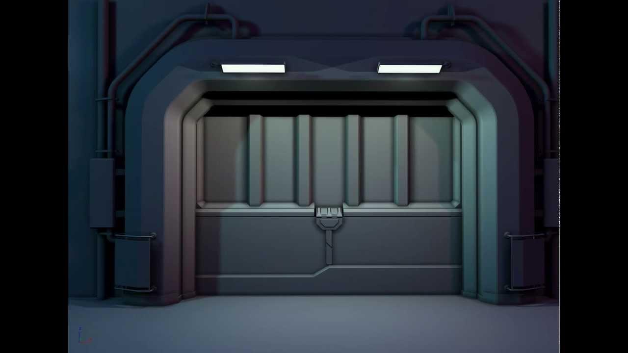 & Space ship door test - YouTube