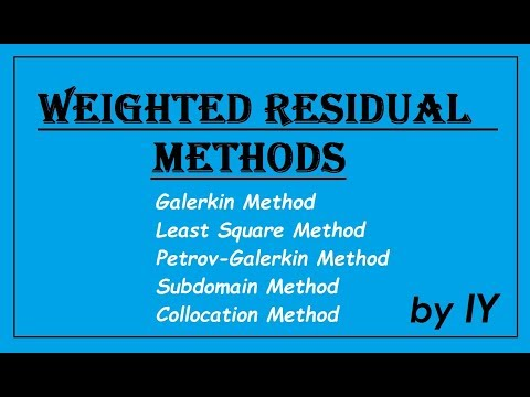 Problems on Weighted-Residual Methods I Finite Element Analysis