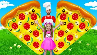 Sasha and Max Cooking, Playing PJ Masks in Real Life and Turn into Babies with Dad