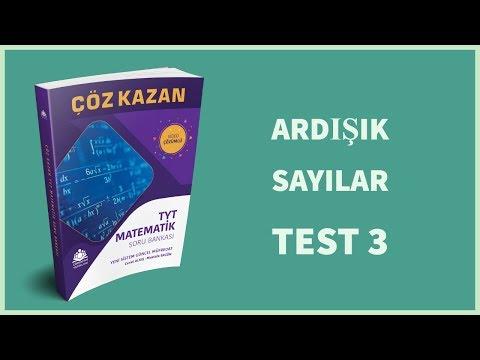 Çöz Kazan TYT Matematik Soru Bankası Ardışık Sayılar Test  3