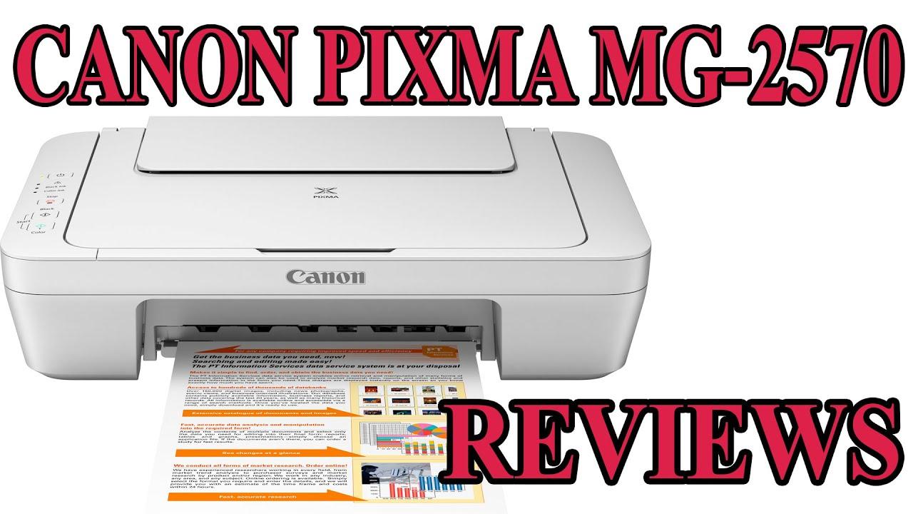 CANON Pixma MG-2570 Low Budget Printer Reviews!! - YouTube