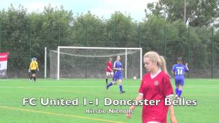 FC United 4-2 Doncaster Belles. 9 August 2015. Friendly