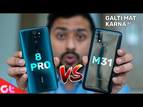 Redmi Note 8 Pro Vs Samsung Galaxy M31 | Camera, Display And Gaming | GALTI MAT KARNA | GT Hindi