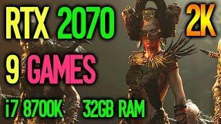 RTX 2070 1440P Test in 9 Games | i7 8700K | 32GB RAM