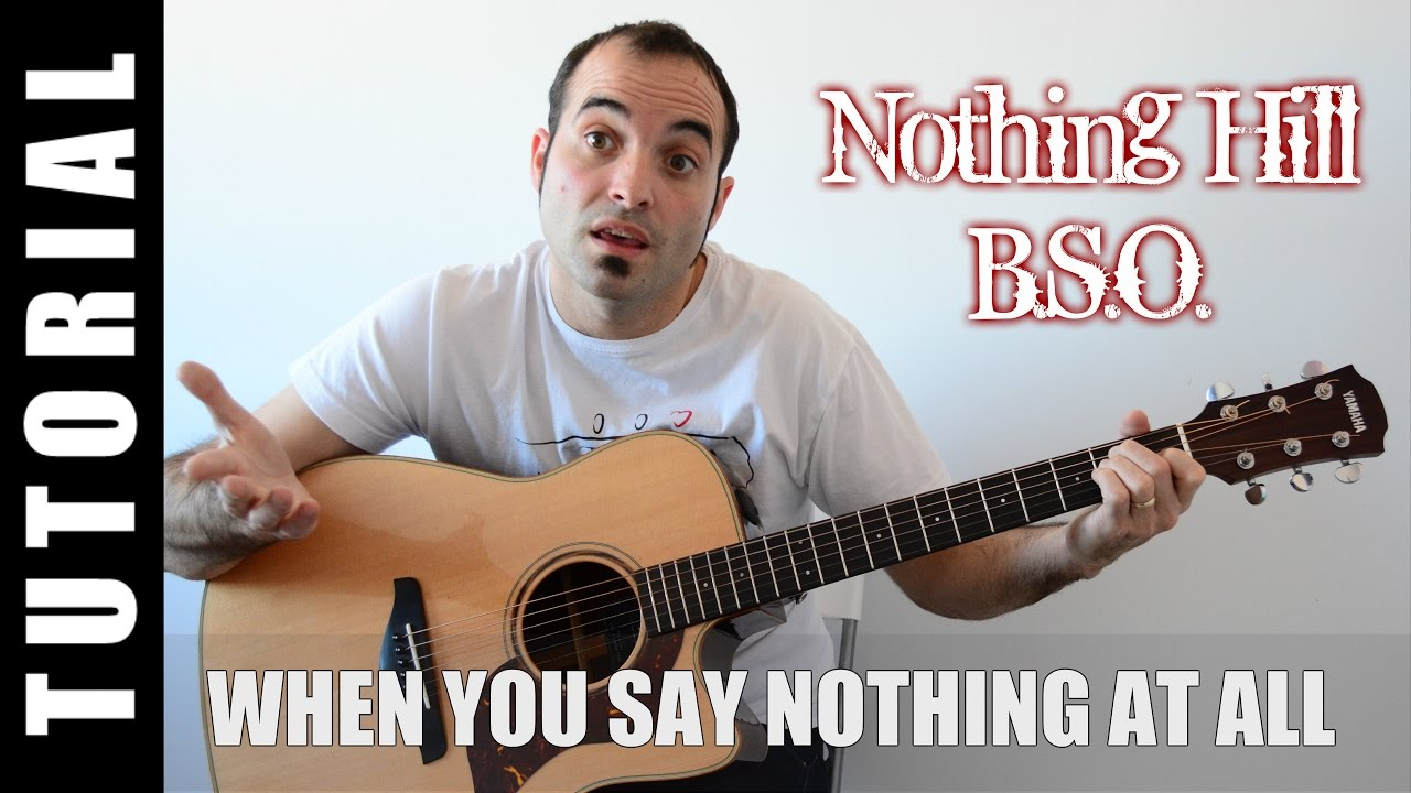 When You Say Nothing At All Bso Nothing Hill Tuto Paso A Paso