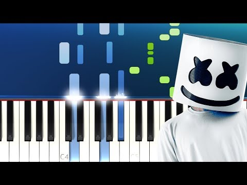 Lagu Video Marshmello - Here With Me Ft Chvrches   Piano Tutorial  Terbaru