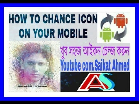 How to Change icon on your Mobile, How to Change Picture on mobile Apps