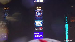 2019 Times Square New Year's Eve Ball Drop