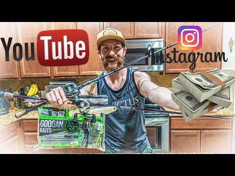 HOW TO GET FREE FISHING GEAR!! (Sponsors/collabs) And Make MONEY With INSTAGRAM & YouTube