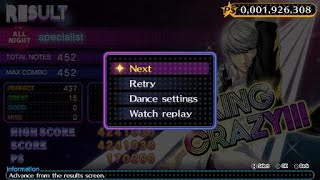 Persona 4: Dancing All Night [Free Mode] Specialist (All Night Difficulty)