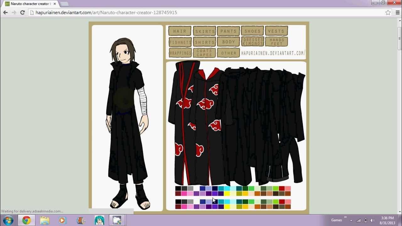 Naruto Shippuden Character Creator