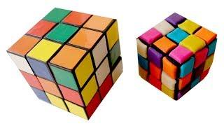 лепим кубик из пластилина. DIY. Play-Doh. Rubik's cube