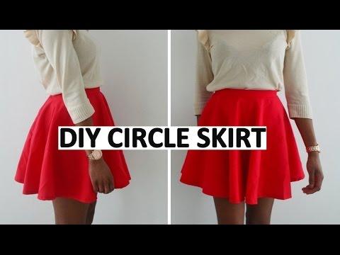 HOW TO MAKE A FULL CIRCLE / DIY SKATER SKIRT | DIY SEWING ...