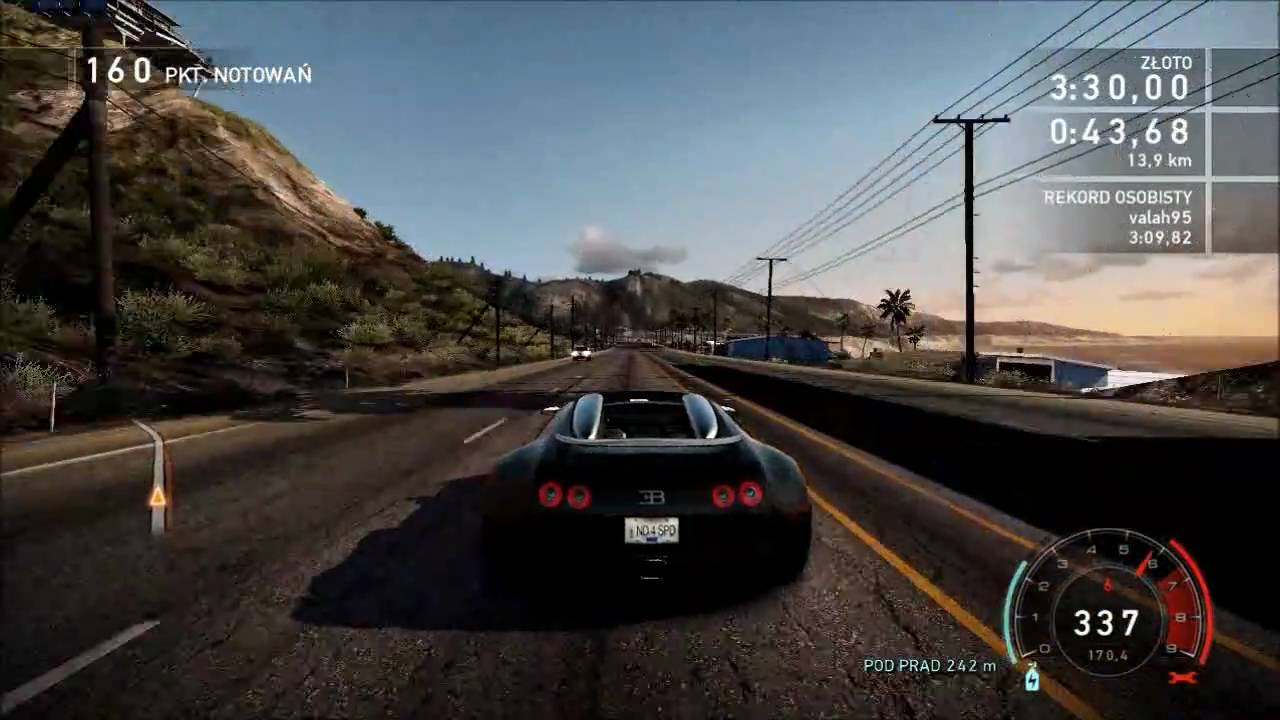 need for speed: hot pursuit - bugatti veyron max speed 407 km/h