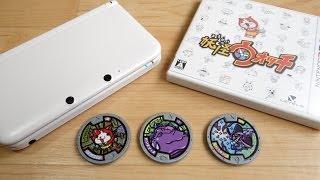 DX妖怪ウォッチの妖怪メダルを使って3種類のQRコード遊びをレビュー!ウェブ妖怪大辞典 おみくじバトル 妖怪コインゲット 3DS thumbnail