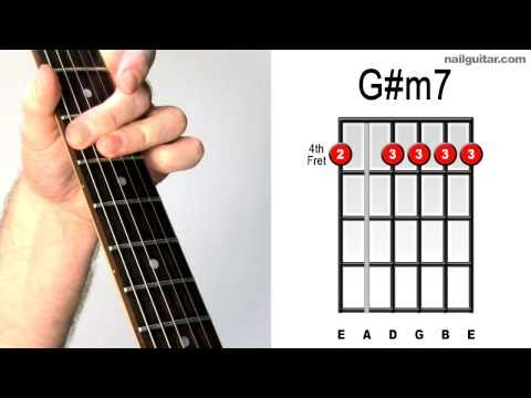 How To Play The Chord Of G M7 G Sharp Minor 7 Love Guitar Page 105