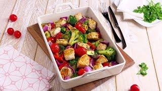 Вкуснейшая курочка с овощами в духовке. Рецепт - просто бомба!