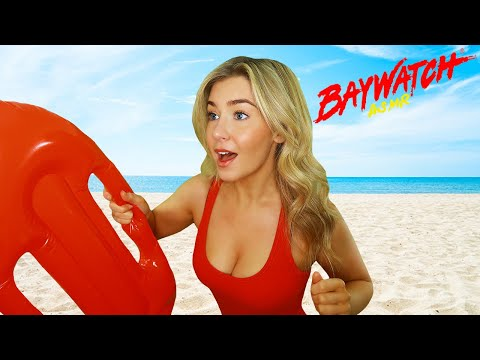 ASMR BAYWATCH BABE RESCUES YOU! 💃🌊🏖️| Personal Attention Roleplay