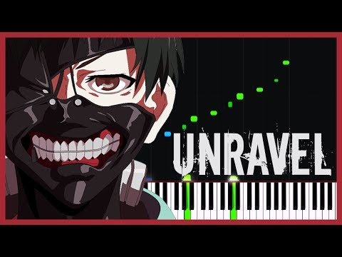 Unravel (Soft Version) - Tokyo Ghoul (Opening) [Piano Tutorial] (Synthesia) // Meet Parekh