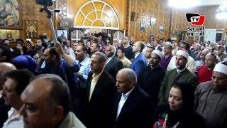 الأنبا بيشوي يستقبل المحافظ وقيادات الدقهلية بمولد القديسة «دميانة»