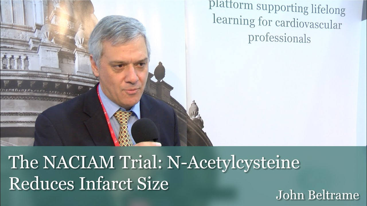 ESC 2016: The NACIAM Trial: N-Acetylcysteine Reduces Infarct Size