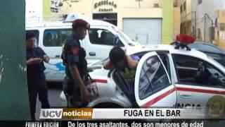 Capturan a tres delincuentes, presuntos asaltantes de bar