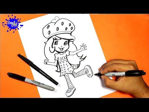 how to draw Strawberry Shortcake 2 l Como dibujar a fresita rosita 2 ...