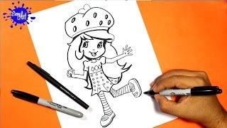 how to draw Strawberry Shortcake 2 l Como dibujar a fresita rosita 2