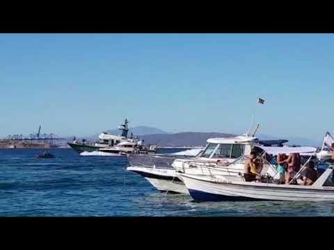 La Guardia Civil persigue a una embarcación en Getares