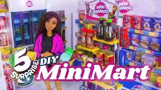 Unbox & Craft:  Zuru 5 Surprise Mini Mart PLUS DIY Mini Mart for Barbie
