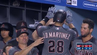 ARI@LAD: Martinez hits four home runs against Dodgers