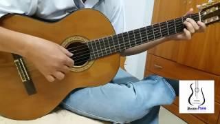 Dau chan dia dang guitar solo