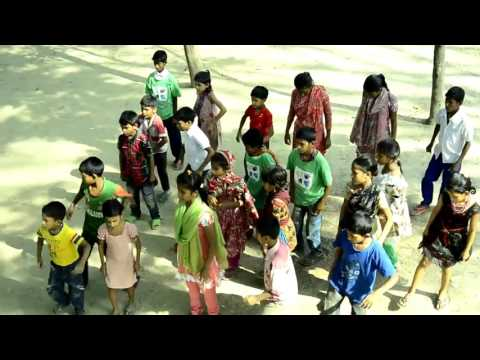 ICC T20 Flash Mob by Lal Sabuj School an honorary school for street kids by Lal Sobuj Foundation
