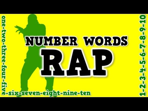 Number Words Rap a song for spelling number words
