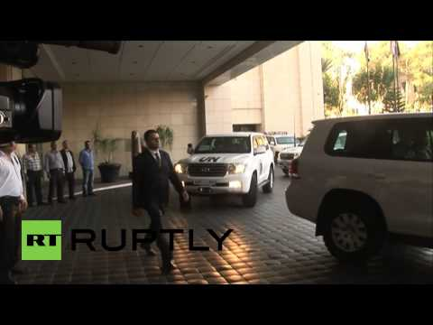 Syria: OPCW chemical weapons inspectors arrive in Damascus