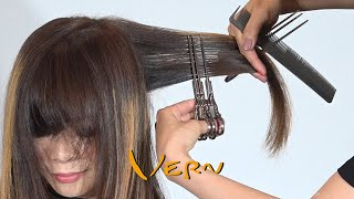 Unique Design Layered Bob and Bangs Haircut - Vern hairstyles 51