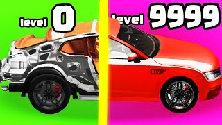 IS THIS STRONGEST FASTEST CAR GARAGE EVOLUTION? (HOW TO BUILD YOUR A CAR FROM SCRATCH) l Car Idle