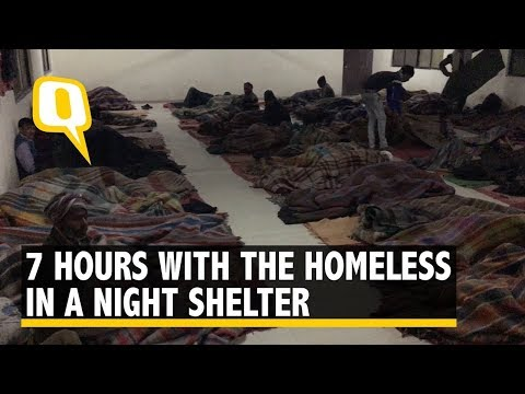 Spending 7 Hrs With the Homeless in a Cold Night Shelter of Delhi
