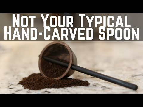 Unique Hand Carved Coffee Spoon!!! Woodworking // How To