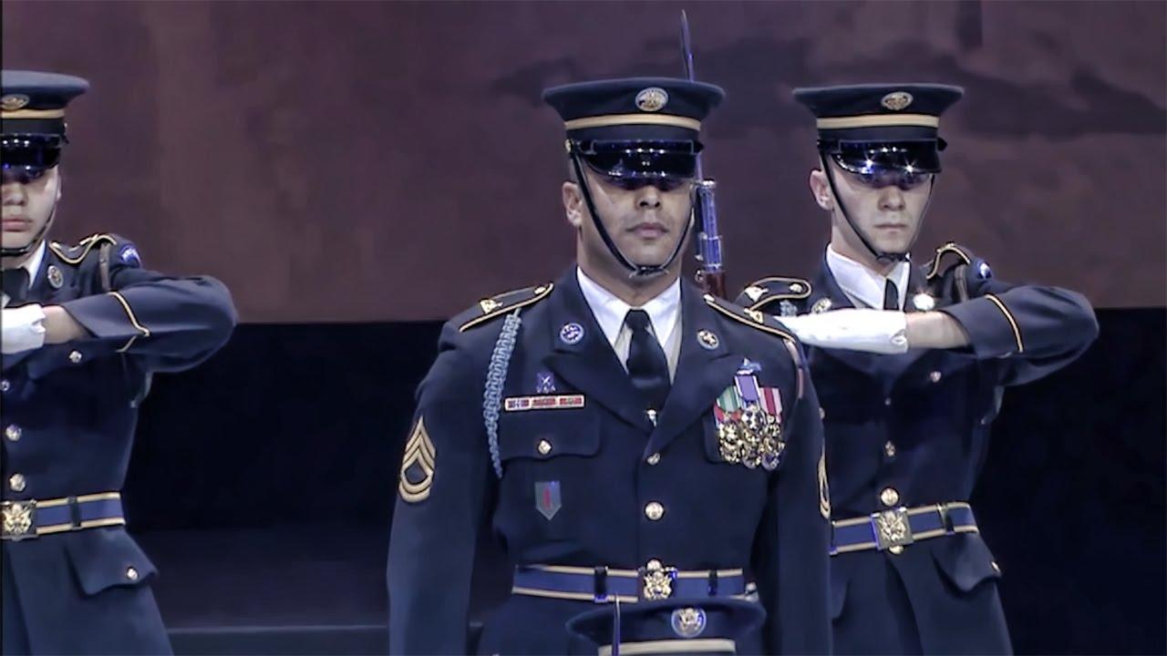 U.S. Army Drill Team Performs • Spirit of America 2014