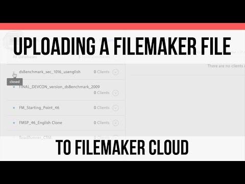 Uploading a FileMaker File to FM Cloud | FileMaker Cloud | FileMaker Pro 15 Training