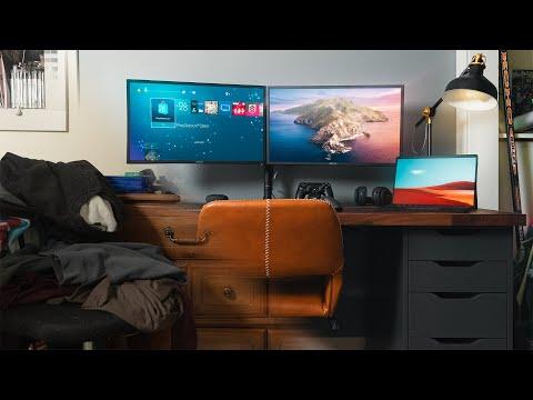 Modern IKEA Desk Setup Makeover (2020)