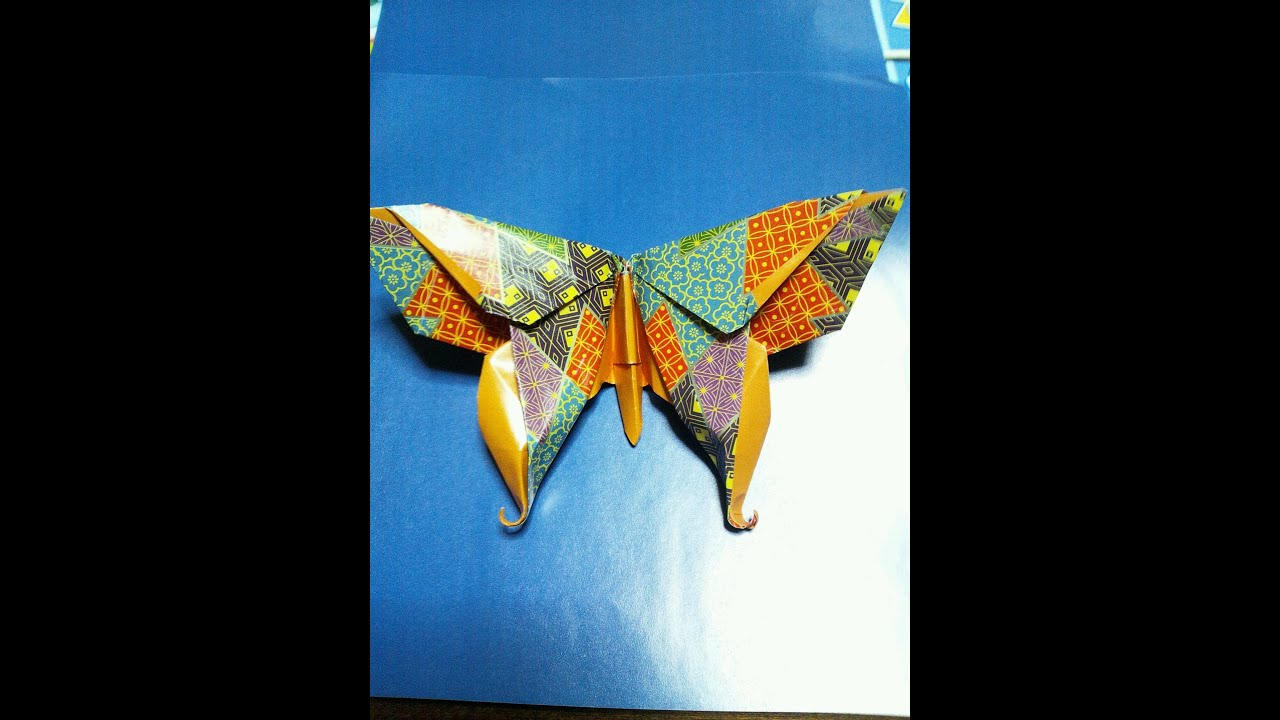 折り紙 「蝶」折り方 origami butterfly - Michael G.lafosse - YouTube - photo#38