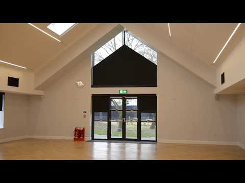 Gable end electric roller blinds
