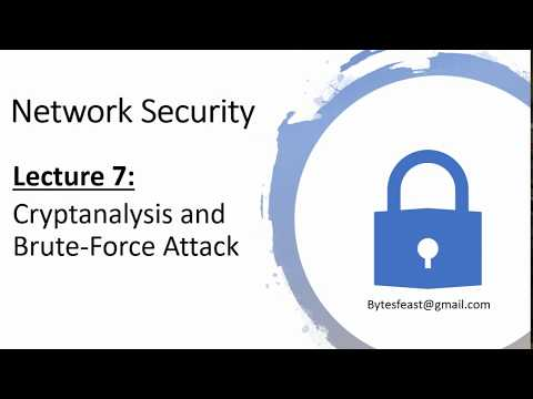 Cryptanalysis And Brute Force Attack In Hindi / Urdu - Network Security 7 - Cryptanalysis